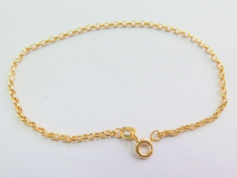 Solid 18k Yellow Gold Bracelet 2mm