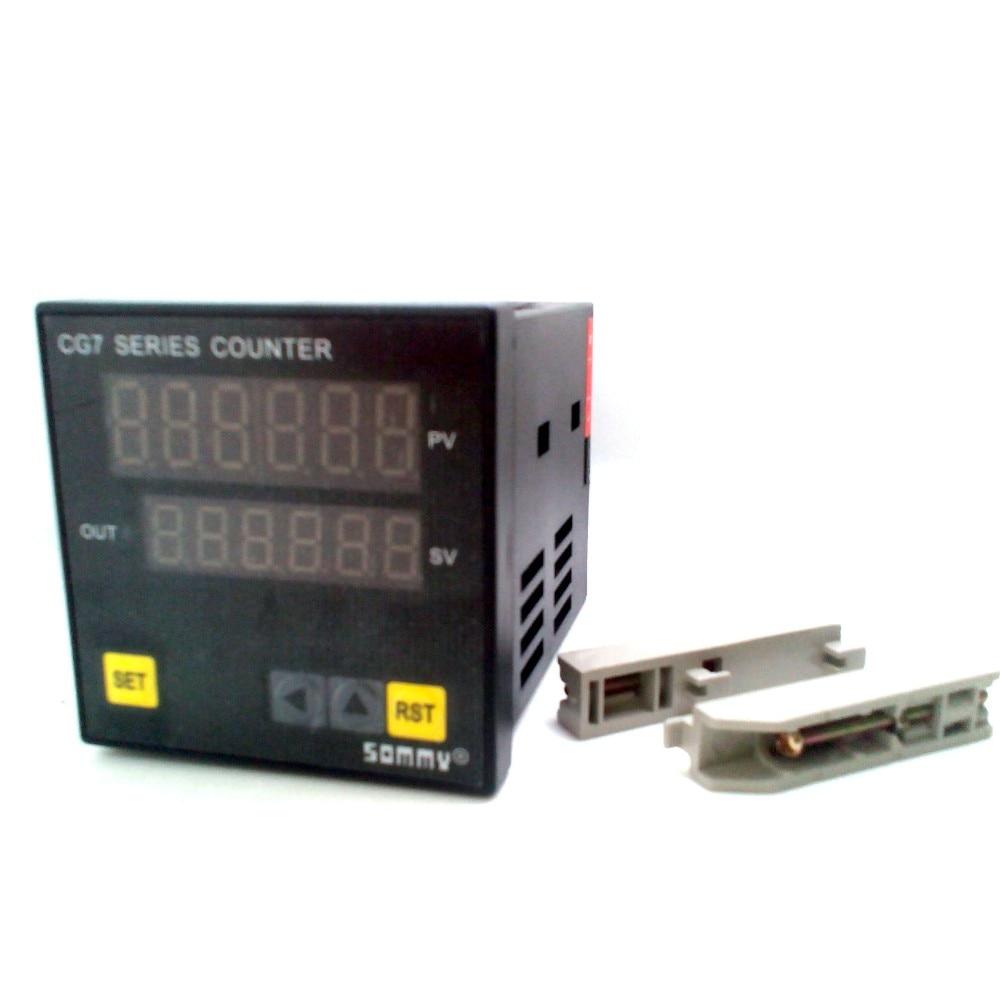 CG7-RB60 цифровой couters Многофункциональный счетчик 6-значный цифровой счетчик релейный выход