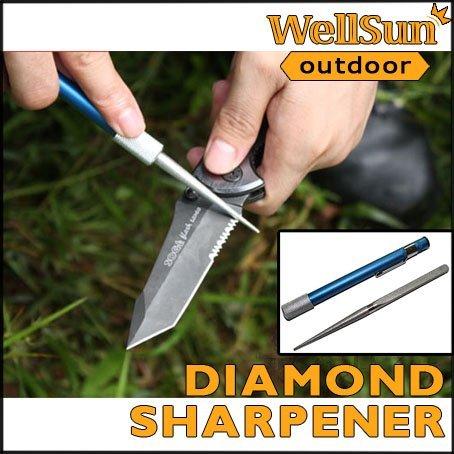 MOQ: 1pc Pen-File Diamond Grit Sharpener Professional Blade / Folding Knife/ Fishing Hook Sharpener For Outdoor Survival #OT-012