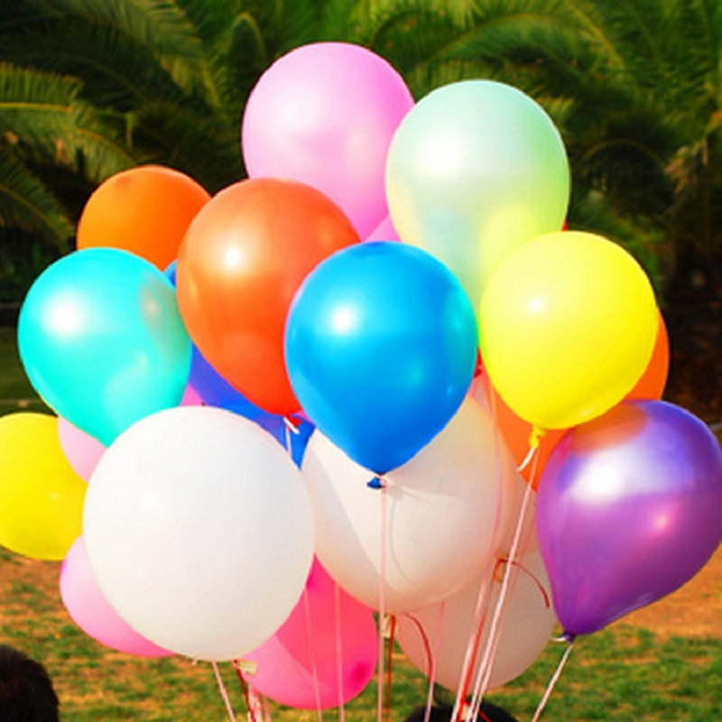 latex balloons 100pcslot 10 12gpiece birthday party decorations kids balloons cheap wedding balloons event party supplies - Cheap Party Decorations