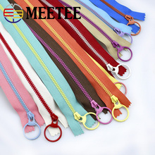 20pcs Meetee 3# Close-end Resin Zippers 15/20/30/40cm Closure Sewing Zip Pull Ring Head for Bags Garment Tailor Crafts