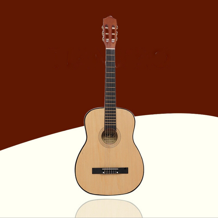 Top Quality  38 Inch Classical Guitar Acoustic Guitar Wood Guitar Wood Color Nylon Strings Free Shipping hot sale top quality white lp custom guitar with golden hardware electric guitar free shipping white color
