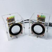 New DIY Mini Speaker Kit Individuality Mini Speakers Computer Small Transparent Speaker DIY Production For Gift
