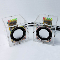 New DIY Mini Speaker Kit Individuality Mini Speakers Computer Small Transparent Speaker DIY Production For Gift