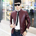 2016 Winter PU Leather Men's Clothing Collar Locomotive Leather Jacket Big Yards Men's Leather Coat Of Cultivate One's Morality