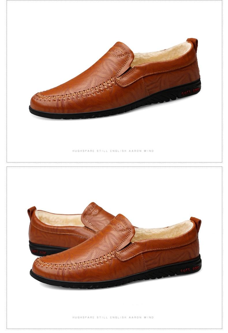 HTB1wokgX5frK1RjSspbq6A4pFXai DEKABR Men Shoes Genuine leather Comfortable Men Casual Shoes Footwear Chaussures Flats Men Slip On Lazy Shoes Zapatos Hombre