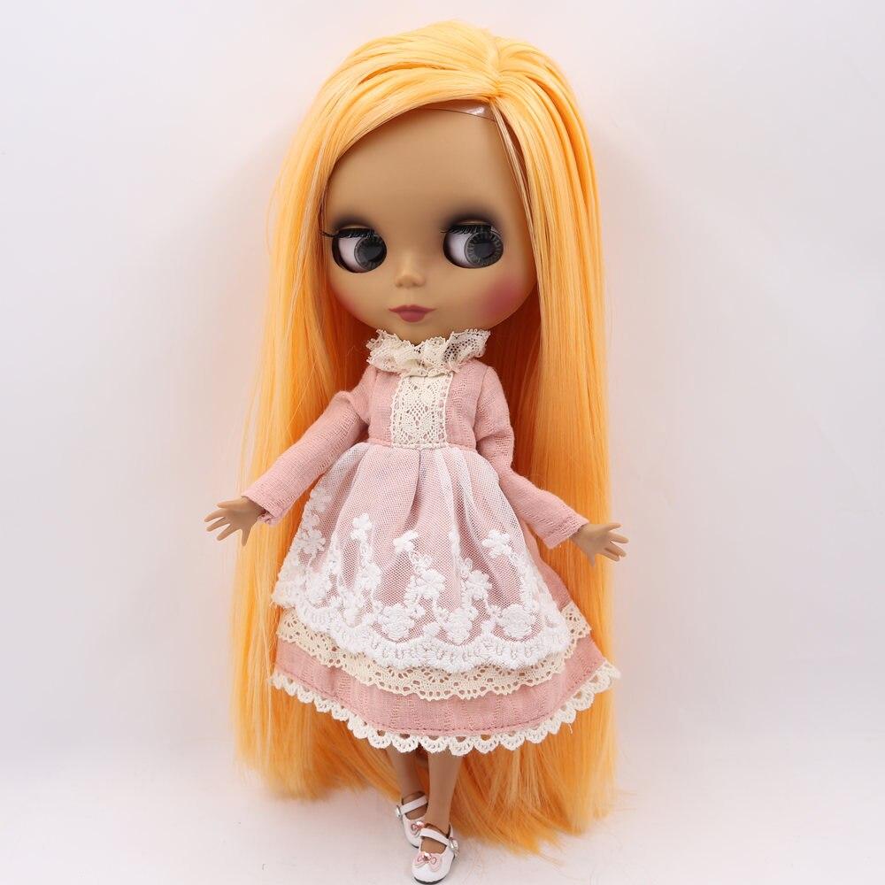 ICY Nude Blyth Puppe Keine. BL0559 Mango haar Schwarz Matt gesicht Joint körper 1/6 bjd-in Puppen aus Spielzeug und Hobbys bei  Gruppe 3