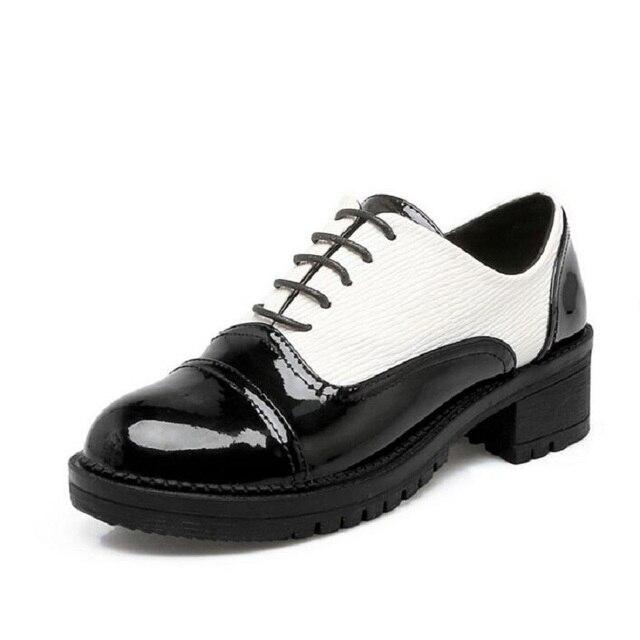 nouveau femmes dames wingtip brogues preppy chaussures à lacets
