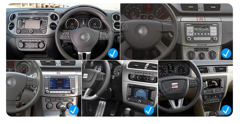 Win CE VW Golf Polo Tiguan Passat Seat Leon Octavia 2 Din Auto DVD GPS 55