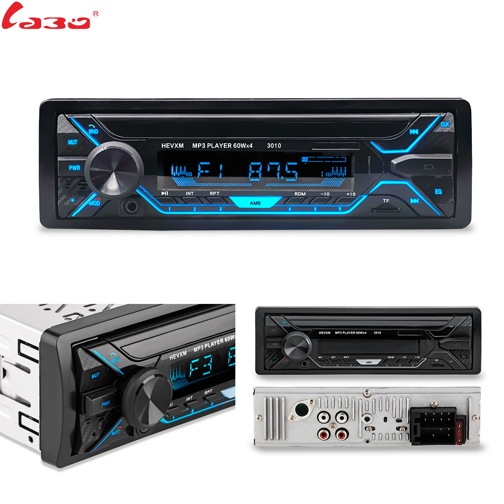 LaBo Car Radio 1din Autoradio Aux Input Receiver Bluetooth Stereo Radio MP3 Multimedia Player Support FM/MP3/WMA/USB/SD Card(China)