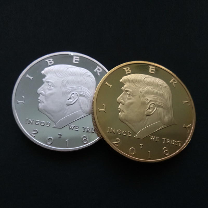 2018 Trump Coins Collectibles Gold Coin Commemorative Currency Collection Of Coins With Name Gold Plated Souvenirs And Gifts