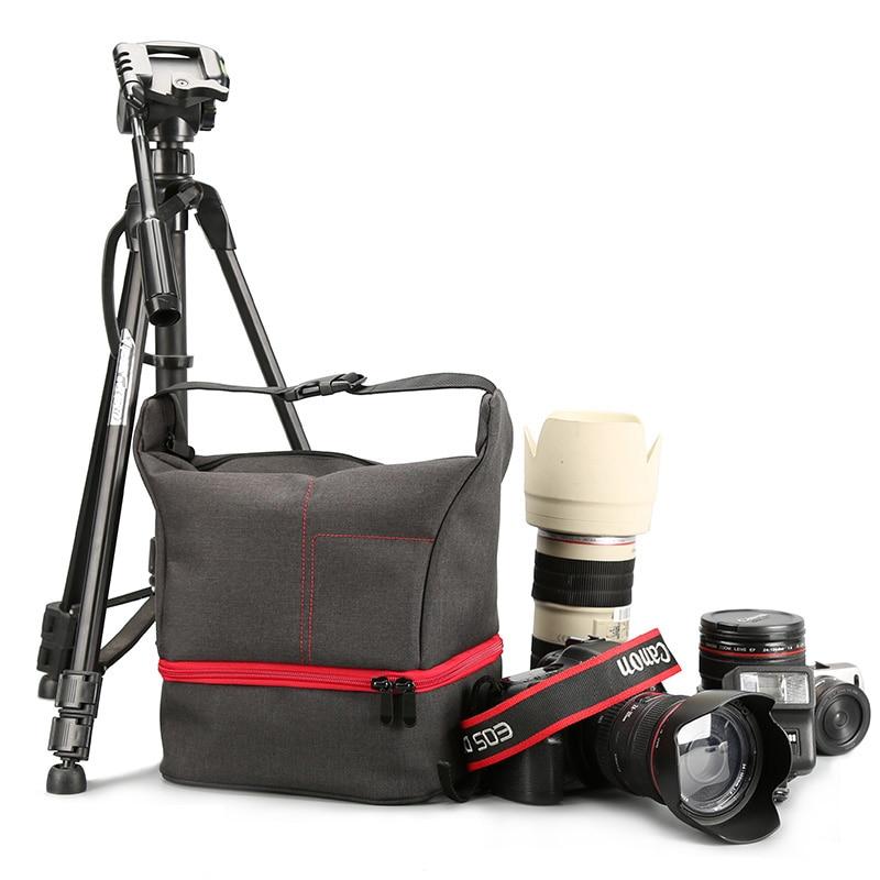 DSLR Camera Bag Case For Nikon D5300 D7200 D3400 P900 Canon 750D 1300D 77D 600D 800D Bag SONY A7 Mark II III A7M2 A9 A58 A6000 dslr camera backpack padding lens divider insert bag with 15 laptop pack travel bag for canon 5d 7d 600d nikon d7200 sony a6000