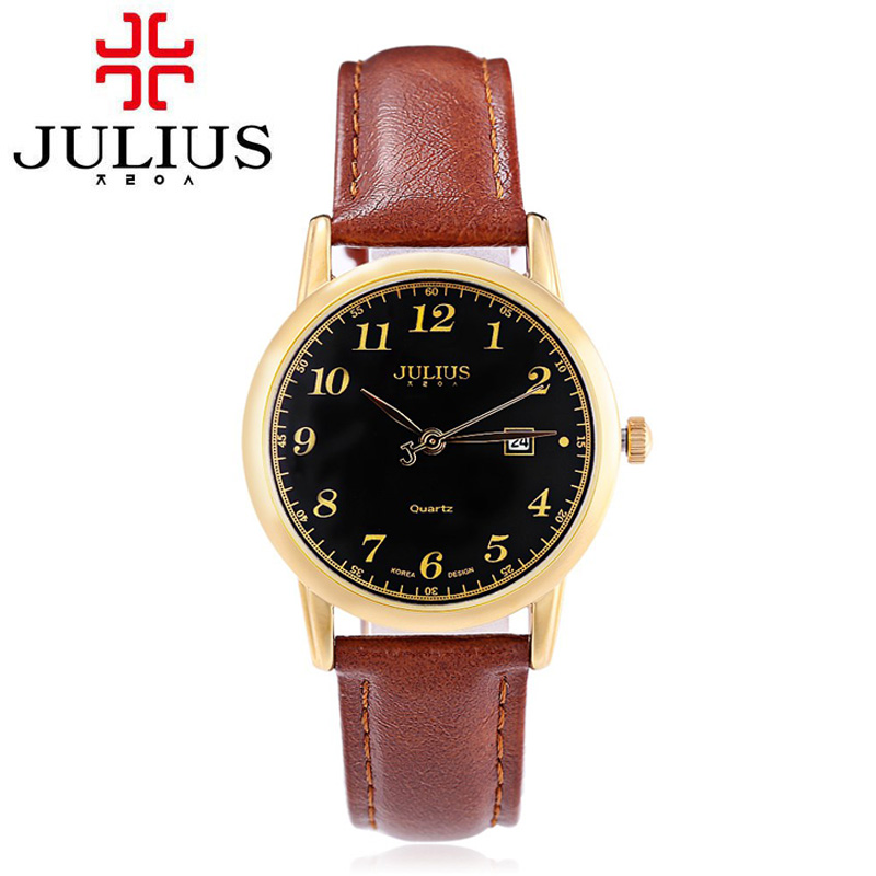 Julius 2017 New Quartz watch Women Dress Watches Lady Luxury Waterproof Clock Genuine Leather Straps Wristwatch