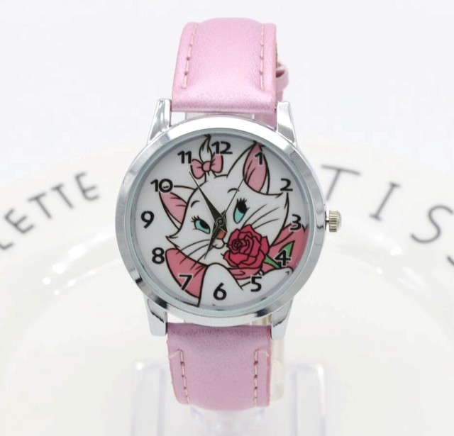 New Cartoon Children Watch roses Sexy cute cat Watches Fashion Girl Kids Student