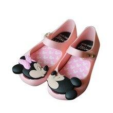 Mini Melissa 2017 New Summer Girls Sandals Shoes Sandalen Alice In Wonderland Melissa Children Sandals Beach Shoes