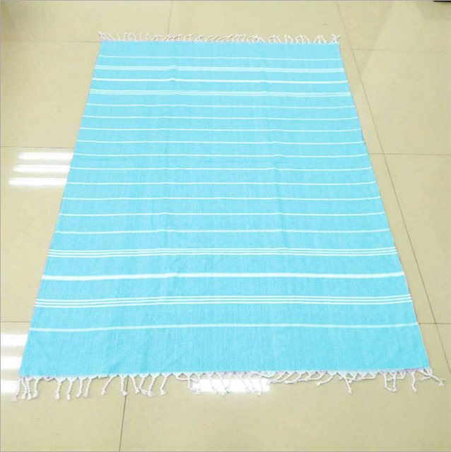 Turkish Bath Towels Cotton Fabric Tel Beach Towel 100x180cm Summer S Stripes Thin Blanket