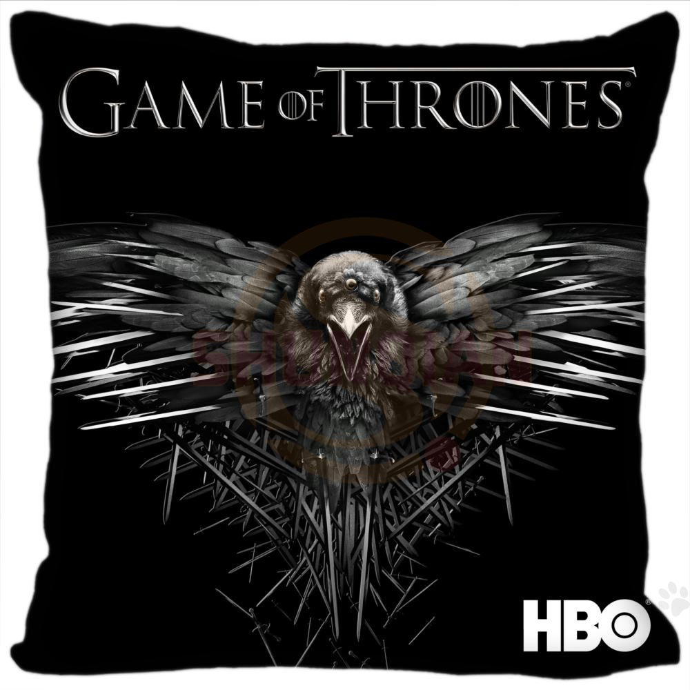 H+P#80 New Hot Custom Pillowcase game of thrones #1 soft 35x35 cm (One Side) Pillow Cover Zippered SQ01003@H080 image