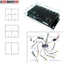 Koorinwoo Auto di Parcheggio Video Sistema di Trigger Panoramica a 360 gradi Box 4 Canali per Auto vista Posteriore vista Frontale Laterale Sinistra Destra macchina fotografica