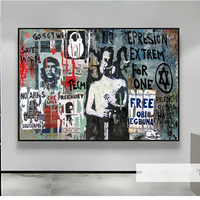 100% Hand Painted Oil Paintings canvas Original Graffiti Art Portrait Modern Abstract Painting Home decor