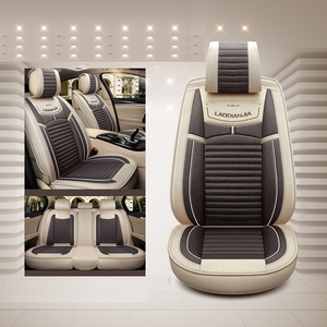 Image 2 - מכונית כיסוי מושב פשתן אוניברסלי מושב כרית רכב סטיילינג עבור סקודה אוקטביה פאביה מעולה ראפיד Yeti Spaceback Joyste Jeti מדבקות