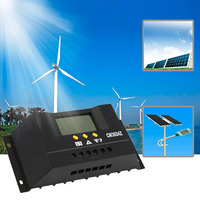 2017 NEW Solar Regulator 30A 12/24V Solar Charge Controller PWM LCD Display