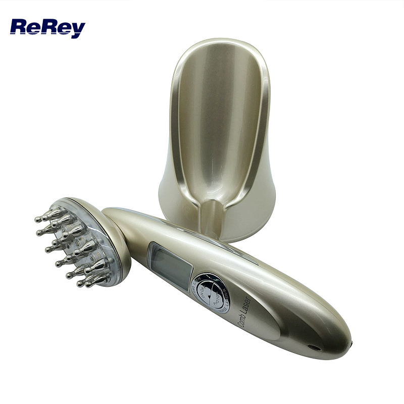 Rechargeable Laser Comb Hair Regrowth Treatment Laser Comb Hair Loss RF EMS Head Scalp Massager Repair Hair Massage Machine ipl laser hair regrowth massager vibrator comb for electric scalp stimulator hair loss hair growth treatment