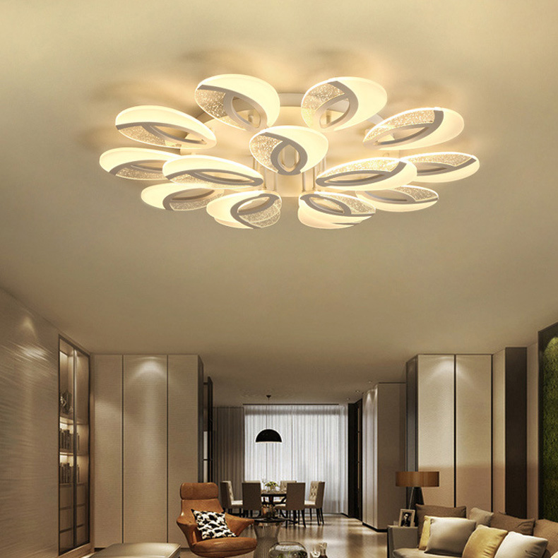 Modern Acrylic Lighting Flush Mount LED Ceiling Light Fixture Creative Lamp Romantic Room Nordic LED Ceiling lamps AC110-265V new safurance 15w led infrared pir sensor ceiling mount lamp light ac110 265v for room building automation home security