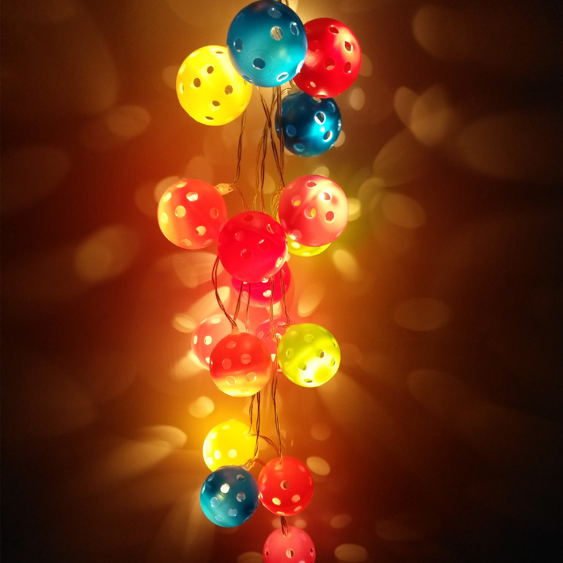 Colorful String Lights : modern fashion colorful round ball string lights for Christma birthday decoration lamp night ...