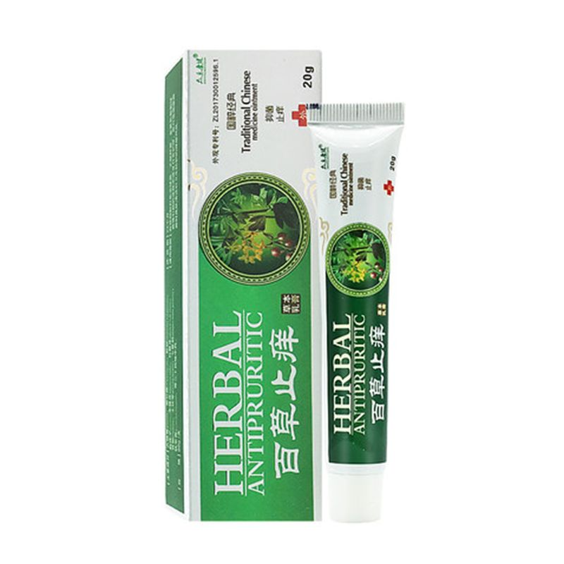 20g Natural Herbal Antibacterial Bacteriostatic Ointment Antifungal Dermatitis Psoriasis Eczema Itch Skin Disease Cream