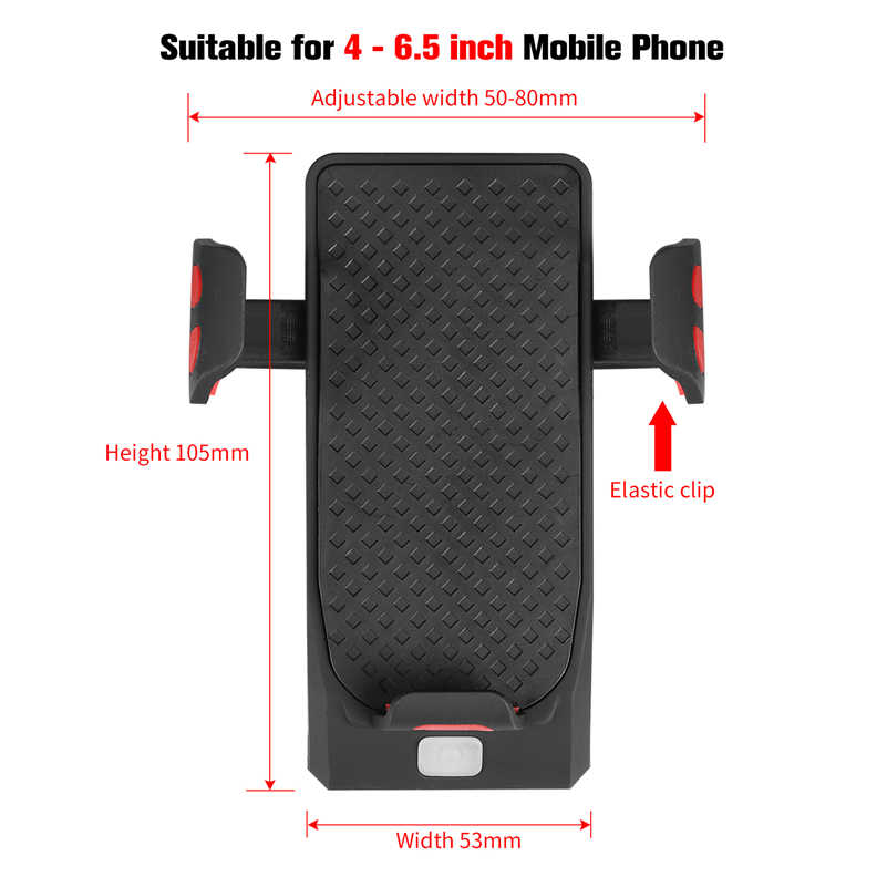 WEST BIKING Bike Phone Holder Horn Light Rechargeable Flashlight Power Bank Phone Holder For iPhone Cell Phone Holder Mount