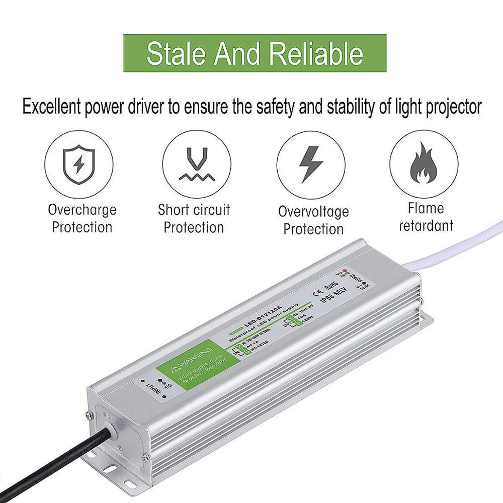 Image 3 - Controlador LED IP68 resistente al agua 50 60Hz 10W 30W 50W 60W 100W 120W 300W fuente de alimentación LED AC90 265V transformadores de iluminación para potencia LEDTransformadores de iluminación   -