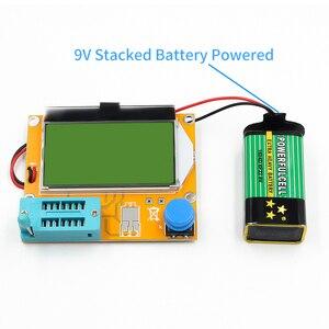 Image 5 - Mega328 M328 LCR T4 12846 LCD cyfrowy Tester próbnik elektroniczny miernik dioda podświetlenia trioda pojemnościowy miernik parametru ESR MOS/PNP/NPN L/C/R