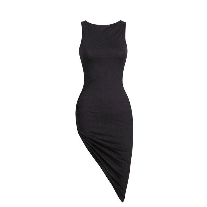 HTB1won9oMKTBuNkSne1q6yJoXXaK Vestidos 2019 Fashion Women Sleeveless Summer Dress Black Ladies Slim Bandage Party Dresses Women's Casual Beach Sundress #YL5