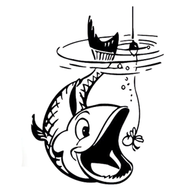13.1 см*17.5 см интересные рыбалки спортивный силуэт виниловая наклейка стикер автомобиля С9-0694