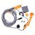 Ferramenta de Limpeza do Chuveiro elétrico Portátil 12 v máquina de Lavar Carro Caravan Camper Viagem de Acampamento Ao Ar Livre Chuveiro com Cigarro Do Carro Mais Leve