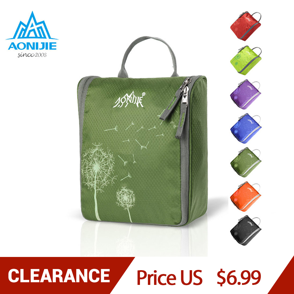 AONIJIE Suspended Washing Bag Water Repellent Travel Wash Bag Ultralight Portable Cosmetic Bag Large Capacity Storage Bag