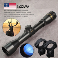 Hot new 4X32 Adjustable Optical Sight Etched Glass Tactical Riflescope Reticle Sight Scope for Shoot gun Rifle Hunting optics