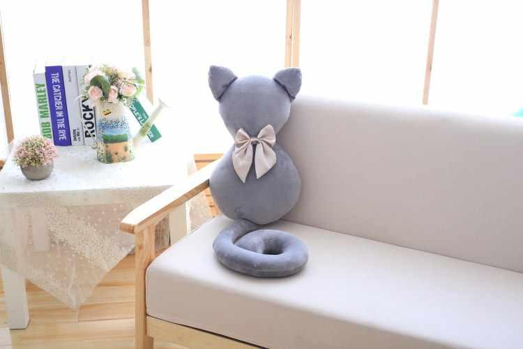 Muy bueno juguete de felpa gato adorable peluche sofá almohada niños apaciguar muñeca dormir Regalo de Cumpleaños creativo para niñas