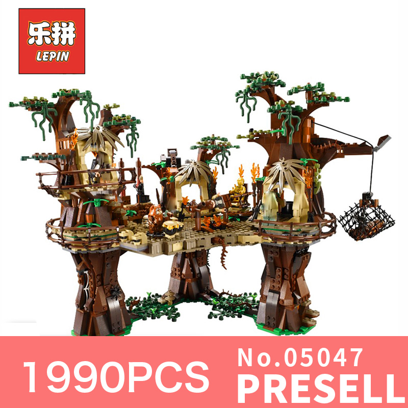 Star 1990Pcs Lepin 05047 Wars the Village Building Blocks Juguete para Construir Building Bricks LegoINGly 10236 for kid's Gift dhl fast shipping 1990pcs lepin 05047 ucs ewok village building blocks juguete para construir bricks toys compatible 10236