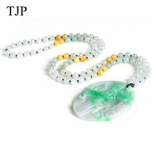 TJP Emerald Beautiful stone Jade Bamboo Jewelry accessories Authentic pendant necklace WH1314 Free shipping