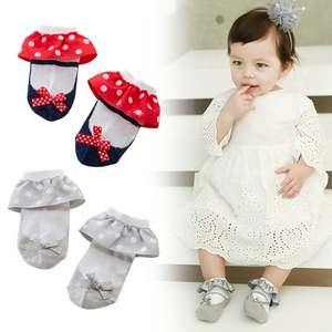 New Baby Sweet Wavelet Point Fungus Lace Non-Slip Princess Socks Children's Products