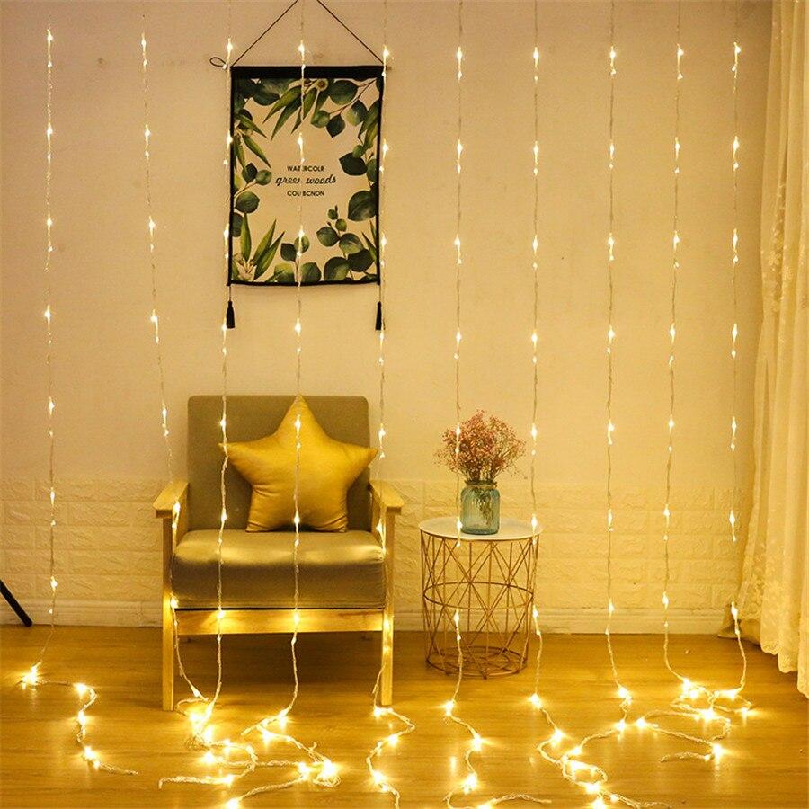 Thrisdar 6X3 M 640 LED cascade rideau glaçon LED chaîne lumière météore douche pluie fée chaîne guirlande mariage fond lumière