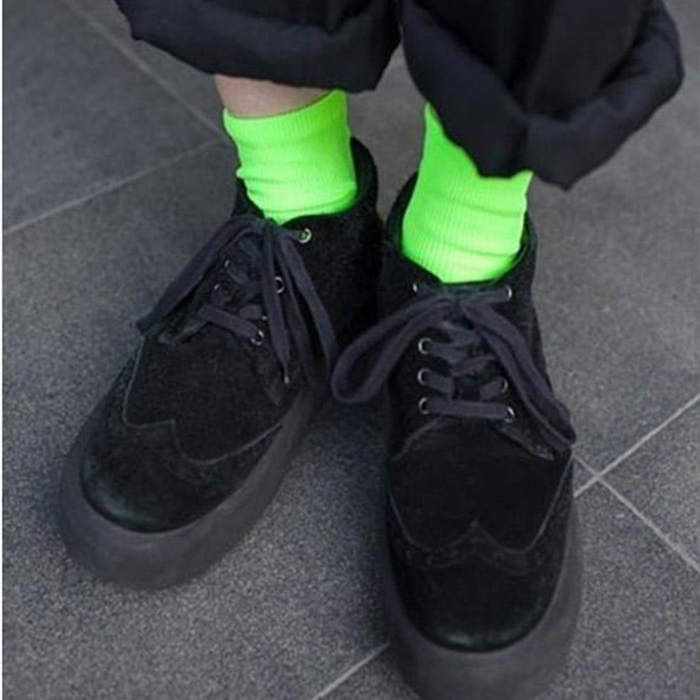 Fluorescent Candy Color Socks 3