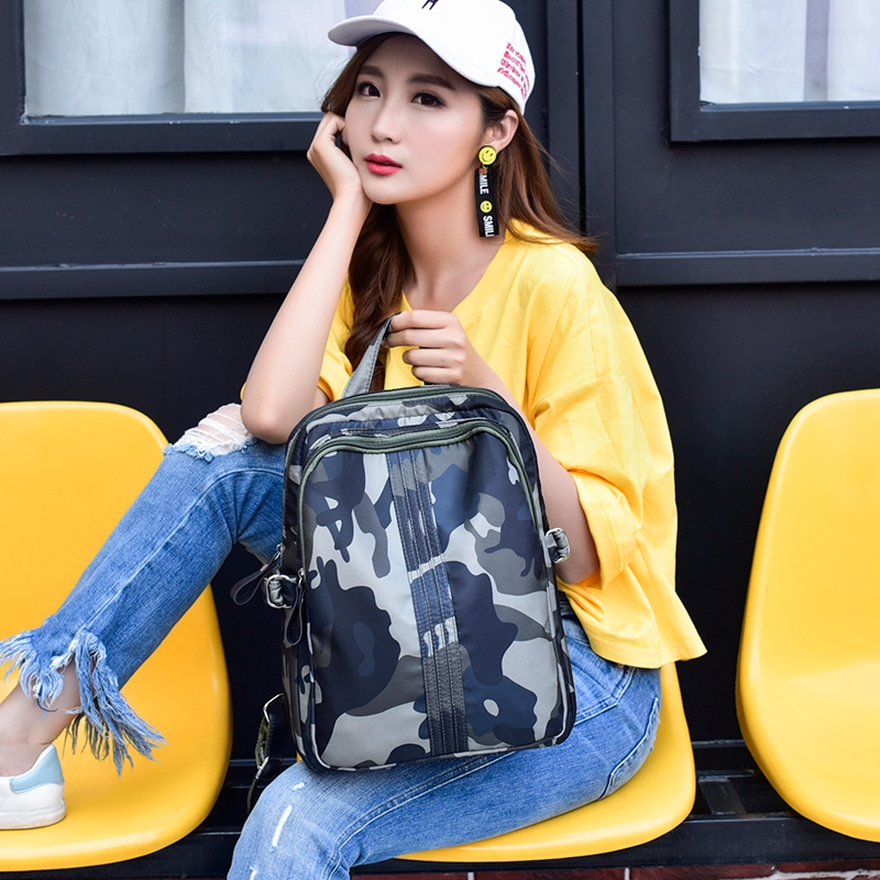 Fashion Designer High Quality Nylon Backpack Women Camouflage School Bag For Teenager Girls Bags Female Backpacks Mochilas Mujer gulliver 11704bmc2302