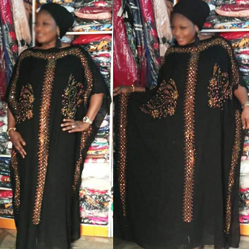african traditional dresses for women robe africaine vetement femme 2019 summer dresses dashiki rhinestone black long dress sale in Africa Clothing from Novelty Special Use