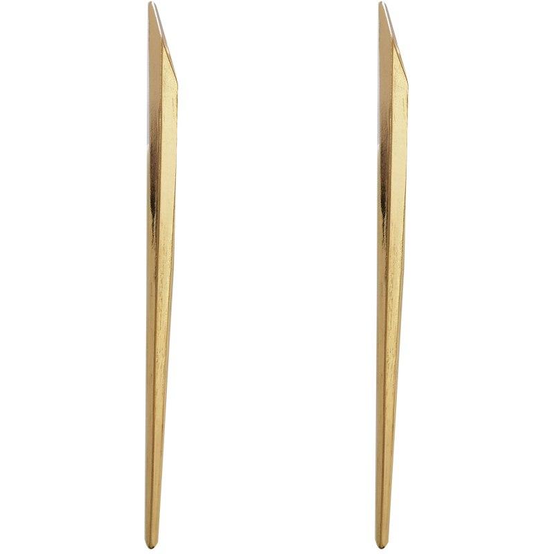 Stylish statement earrings simple long golden earrings for women hang pendant earrings charm modern jewelry