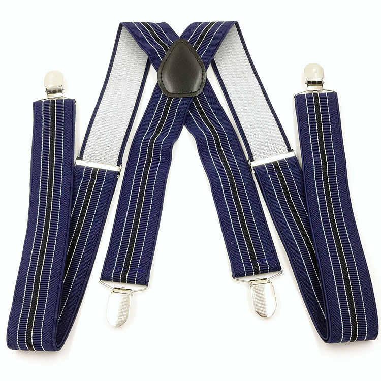 Хорошее качество ширина мужские подтяжки X-shape подтяжки 4 Зажимы Ремни клип на подтяжки эластичные тонкие подтяжки