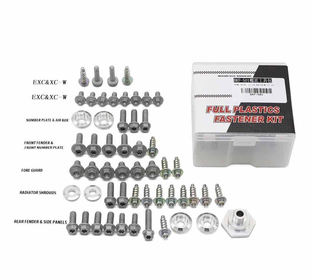 Hardware Bolt Full Plastics Fastener Kit For KTM SX XC EXC XCW Factory Style Motorcycle Motocross