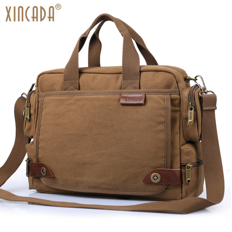 Xincada Men Canvas Messenger Bags Vintage Crossbody Laptop Handbags Satchel Shoulder Bag Bookbag On Aliexpress Alibaba Group