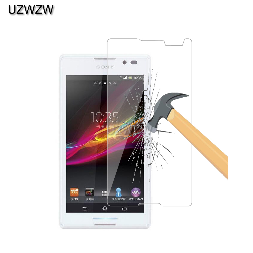 0.26mm 9h 2.5d Tempered Glass For Sony Xperia C C2305 S39h Screen Protector Film Glass For Sony Xperia C C2305 S39h Glass